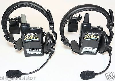 Eartec 2 Simultalk 24G Beltpacks with Headsets, Battery and Chargers