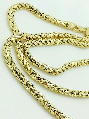 "14k Yellow Gold Round Diamond Cut Franco Chain Necklace 18"" 20"" 24"" 2.7mm"