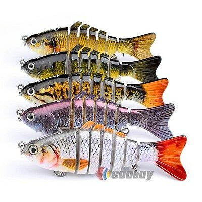 1PC Jointed Section Fishing Lures Swimbait Life-like 7section Sinking Tackle 6#