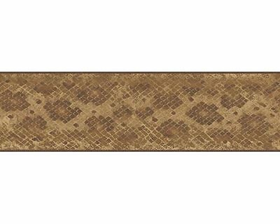 NA016141B Brown Snake Skin Print Wallpaper Border