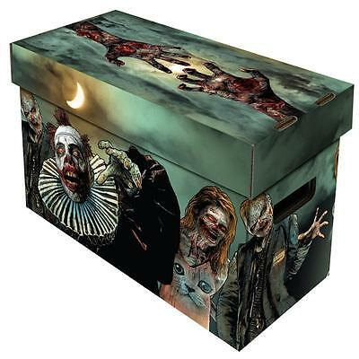 Comic Book Cardboard Storage Box with Zombie Artwork, holds 150-175 Comics
