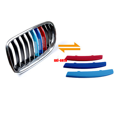 ///M 3color Car Styling Front Grille Trim Strip Cover For BMW 5 Series E60 04-10