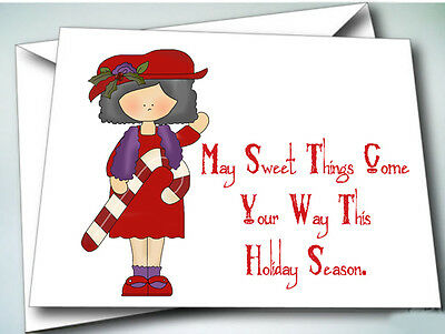 24 Holiday Christmas Greeting Cards W/ Envelopes For Red Hat Ladies Of Society