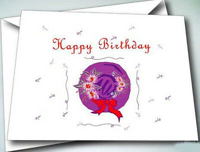 24 Happy Birthday cards w/ envelopes  FOR THE RED HAT LADIES OF SOCIETY