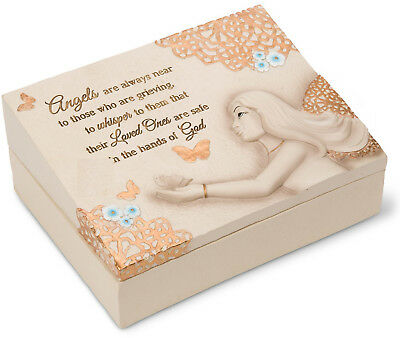 "Angels are Near - 8""x6""x3"" Memorial Box"