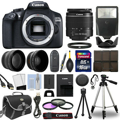 Canon EOS 1300D DSLR Camera Wi-Fi + 18-55mm 3 Lens 16GB Multi Accessory Bundle