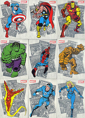 Marvel Bronze Age 2012 Rittenhouse Classic Heroes Insert Card Set Ch1 To Ch9 Ma