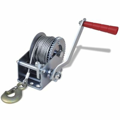 New Iron Hand Winch 363kg/800lbs Pickup Trucks Trailers Manual 10 m Cable Length