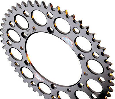 Renthal Silver Ultralight Grooved Rear Sprocket 48 Tooth 154V-520-48GRSI