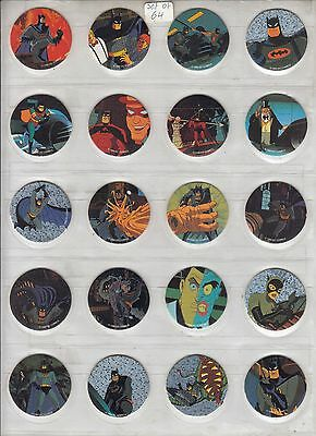 Batman 1995 Wpf Waddingtons Dc Comics Complete Set Of Pogs B1 To B64