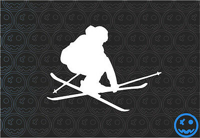 SKIING DECAL STICKER 130mmW SKI Car Van Helmet Laptop Tablet Rossignol K2 Head