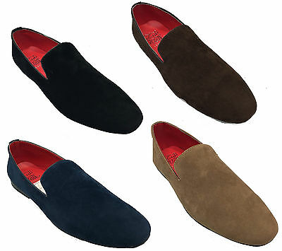 New Men Slip On Suede Comfortable Loafers Shoes 4 Colors UK Size 6 7 8 9 10 11