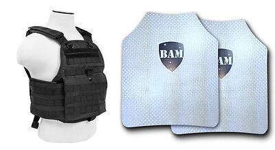 Body Armor   Bullet Proof Plates   ArmorCore   Level IIIA+ 3A+ 10x12 Carrier BLK