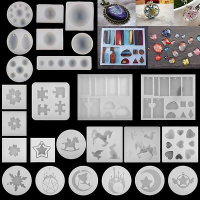 Cabochon Silicone Mold Necklace Pendant Resin Jewelry Making Mould DIY Crafts