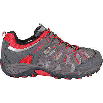 Merrell Cham Low Lace Waterproof Enfants Chaussures - Grey Red Toutes Tailles