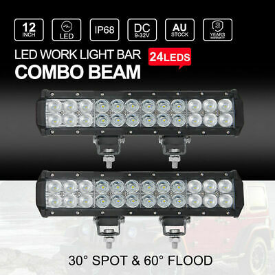 12inch 240W CREE LED Work Light Bar Spot Flood Offroad 4WD Driving Lamp