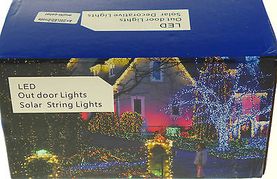 800  Solar Powered Led Lights Xmas 4 Lots Of 200 Multi Coloured Outdoor Party