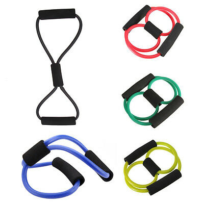 Yoga Resistance Training Muscle 8 Type Elastic Band Tube Weight Control Fitness
