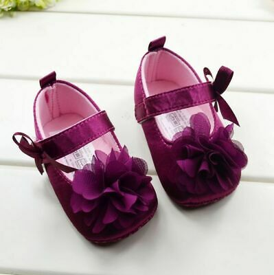 Toddler Infant Newborn Girls Cotton Prewalker Soft Sole Baby Anti-slip Shoes