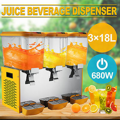 54L Juice Beverage Dispenser Stainless Steel Commercial Bubbler Wise Choice