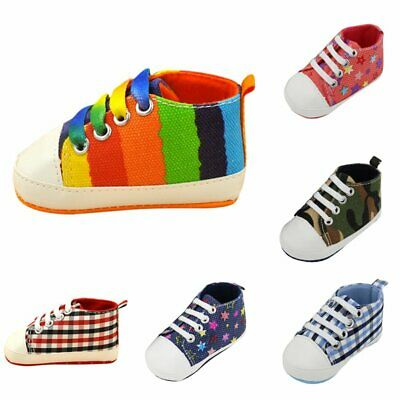 Baby Boy Girl Crib Shoes Infant Toddler Newborn Prewalker Soft Sole Sneakers