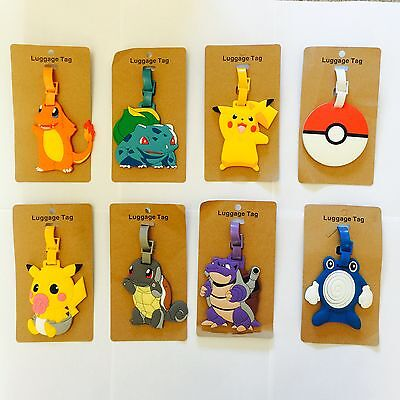Pokemon Go School Bag Labels Luggage Labels Tags Name Tags For Kids Children