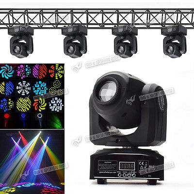 30W LED Spot Moving Head Light Auto Mode Stage Lighting DMX512 8 Colors & 8Gobo