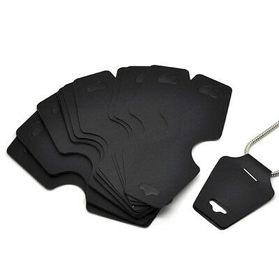 50pcs Black Necklace Jewelry Display Cards 12.2*4.5 cm
