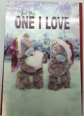 3D Holographic One I Love Me to You Bear Christmas Card, girlfriend, boyfriend,