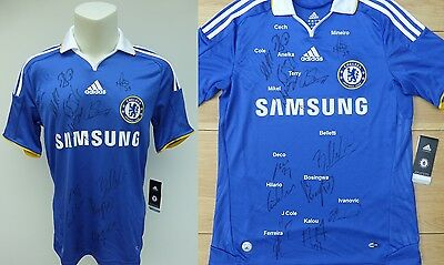 2008-09 Chelsea FA Cup Winners Home Shirt Signed by 15 (8847)