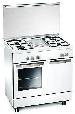 Gas cooker 4 burners 80x50x85 cm white with gas oven - Regal RE7252W