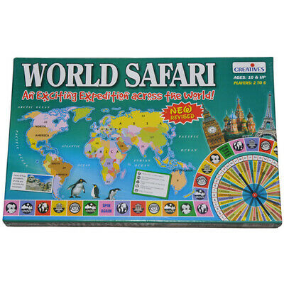 WORLD SAFARI Educational Learning BOARD Game LEARN Geography Interesting FACTS