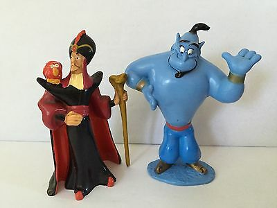 free post 2  DISNEY assorted ALADDIN posed FIGURES cake toppers Jafar & Genie