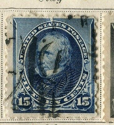 USA;  1890s early President's series issue used 15c. value