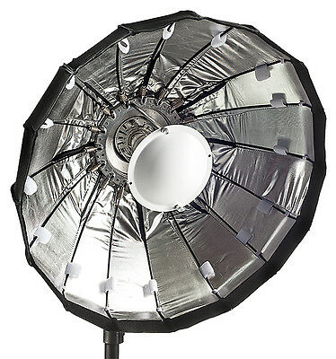 60cm Folding beauty dish, Silver, Elinchrom fitting