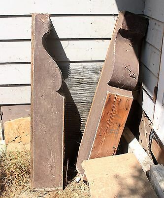 Pair Architectural Salvage Solid Wood Corbels Victorian Wooden Brackets Huge
