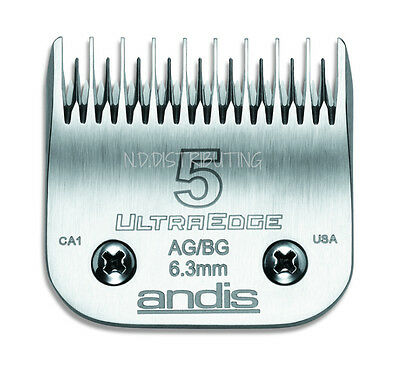 """Andis UltraEdge 5 Skip Detachable Replacement Clipper Blade # 64079 1/4"""" 6.3mm"""