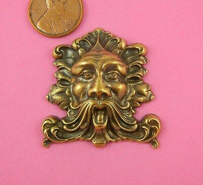 Vintage Design Antique Brass Large Greenman - 1 Pc