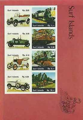 Timbres Trains Voitures Surf Islands Lot A ** (14997)