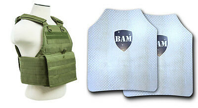 Body Armor   Bullet Proof Plates   ArmorCore   Level IIIA+ 3A+ 10x12 -Carrier OD