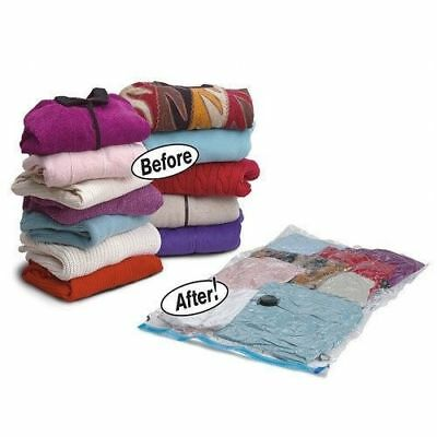 10 Pack - Vacuum Compressed Storage Seal Bags Space Saving Clothes Bedding