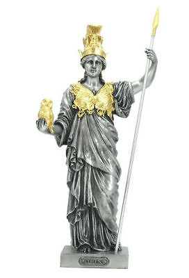 Athena Sculpture Greek Goddess Of Wisdom And War Statue Figurine - GIFT BOXED