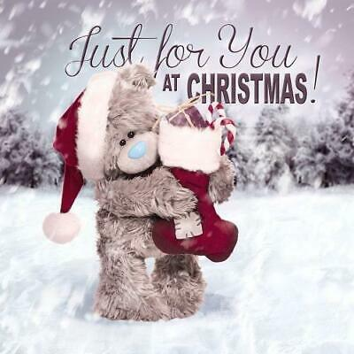 3D Holographic Just for You Me to You Bear Christmas Card - Tatty Teddy