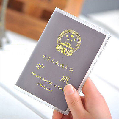 Travel Passport Holder Cover Case Organizer ID Card Protector Transparent New
