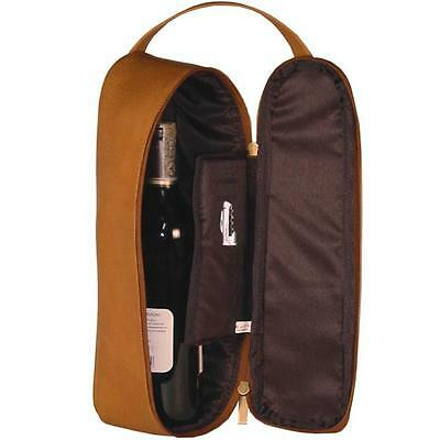 David King & Co 432T Travel Wine Carrier Tan