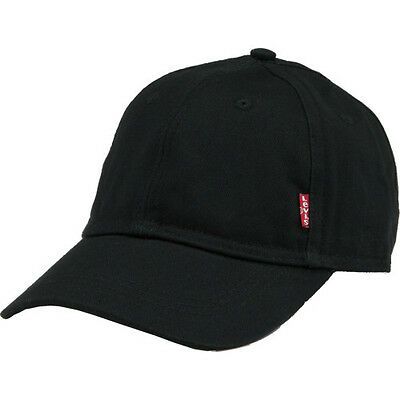 Levis Classic Twill Red Tab Mens Headwear Cap - Black One Size