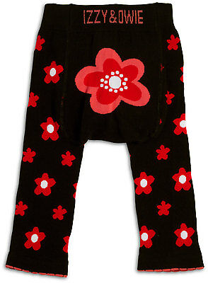 Pink and Black Flower - 12-24 Month Baby Leggings