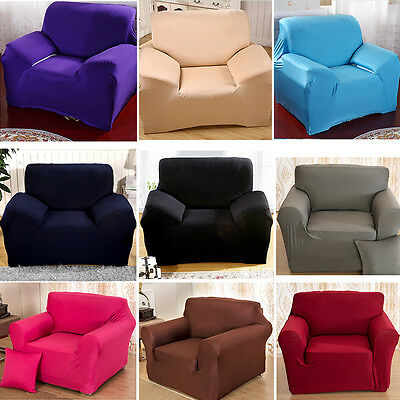 Sofa Slipcover Stretch Protector Soft Couch Cover Washable Fit 1/2/3/4 Seater