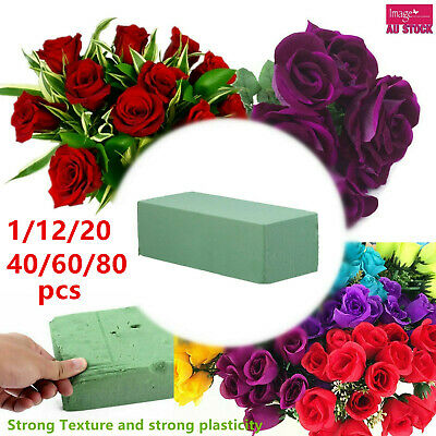 1/12/24/48/72/96 Wet Floral Foam Brick Block Green 22.5x10.5x7cm Bulk Lot