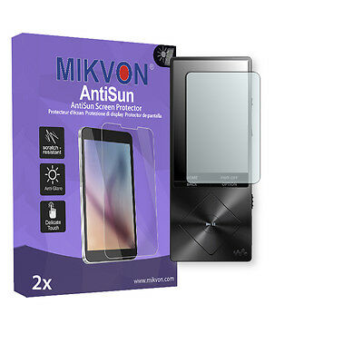 2x Mikvon AntiSun Screen Protector for Sony NWZ-A15 Retail Package + accessories